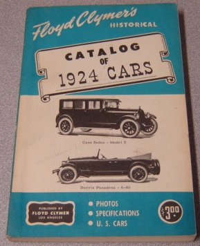 Image for Floyd Clymer's Historical Catalog of 1924 Cars