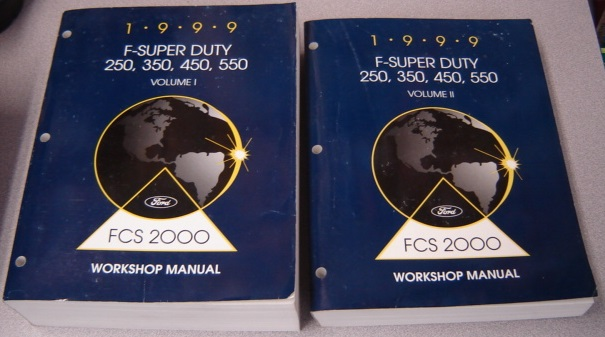 Image for 1999 F-Super Duty 250, 350, 450, 550 Workshop Manual, Volume I & II, 2 Volume Set (FCS 2000)