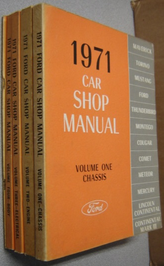 Image for 1971 Ford Car Shop Manual, Volumes 1,2,3,4,5; 5 Vol. Set
