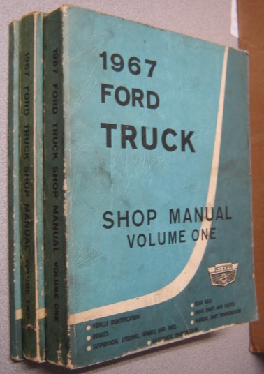 Image for 1967 Ford Truck Repair Shop Manual, 3 Volume Set