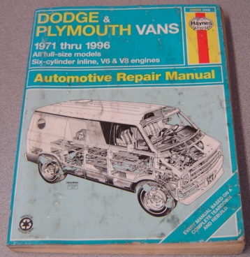 Image for Haynes Dodge And Plymouth Vans 1971 Thru 1996 Automotive Repair Manual