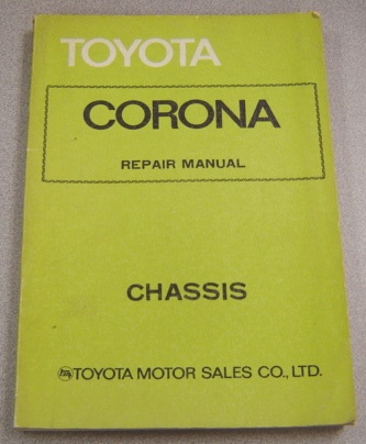 Image for Toyota Corona Repair Manual - Chassis (#98290)