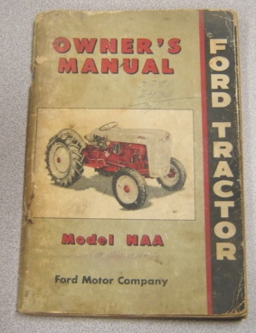 Image for Ford Tractor Owner's Manual Model NAA
