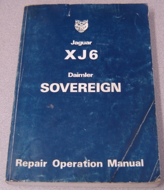 Image for Jaguar Xj6 Daimler Sovereign Repair Operation Manual