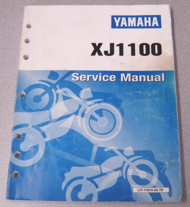 Image for Yamaha XJ1100J Service Manual (LIT-11616-02-78)