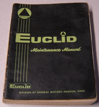 Image for Euclid Maintenance Manual for 82-30/C-6 Crawler Tractor