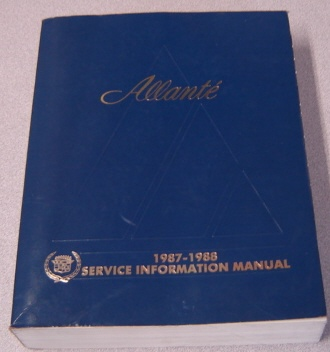 Image for Cadillac Allante 1987-1988 Service Information Manual