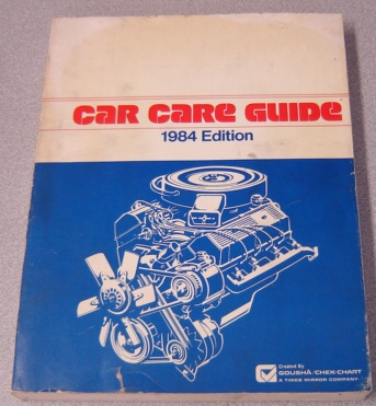 Image for Gousha / Chek-chart Car Care Guide, 1984 Edition