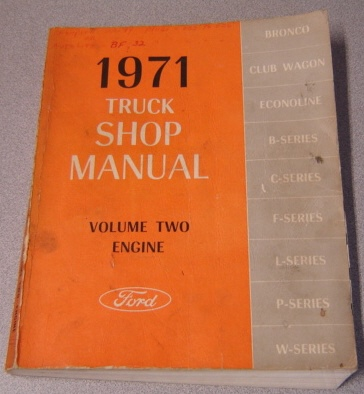 Image for 1971 Ford Truck Shop Manual, Volume Two, Engine