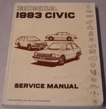 Image for Honda 1983 Civic Service Manual, HC 138286 P/N 61SA003