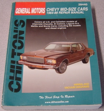 Image for Chilton's General Motors Chevy Mid-size Cars, 1964-88 Repair Manual