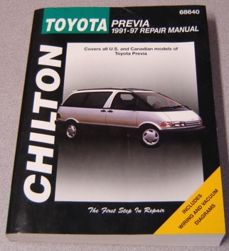 Image for Chilton's Toyota Previa, 1991-97 Repair Manual