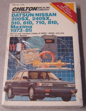 Image for Chilton's Repair Manual Datsun/Nissan 200sx, 240sx, 510, 610, 710, 810, Maxima 1973-89