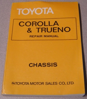 Image for Toyota Corolla & Trueno Repair Manual: Chassis (#98179)