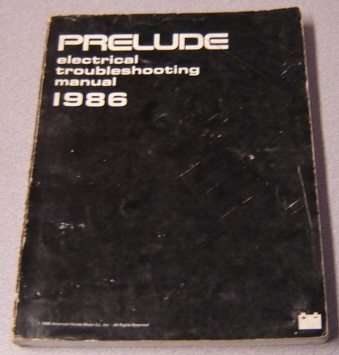 Image for 1986 Honda Prelude Electrical Troubleshooting Manual