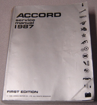 Image for Honda Accord 1987 Service Manual