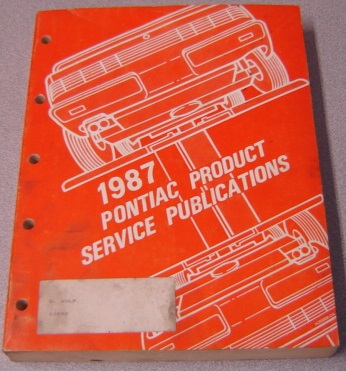 Image for 1987 Pontiac Product Service Publications #S-87-PSP-4