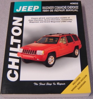 Image for Chilton's Jeep Wagoneer/Comanche/Cherokee 1984-98 (Chilton's Total Car Care Repair Manuals)