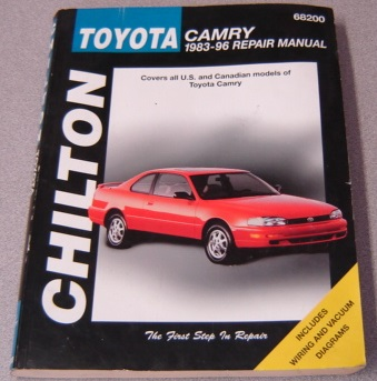 Image for Chilton Toyota Camry 1983-96 Repair Manual (Chilton's Total Car Care)