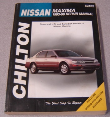 Image for Chilton Nissan Maxima 1993-98 Repair Manual (Chilton's Total Car Care Repair Manuals)