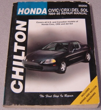 Image for Chilton Honda Civic, CRX, and Del Sol, 1984-95 Repair Manual (Chilton Automotive Books)