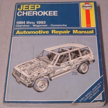 Image for Haynes Jeep Cherokee 1984 Thru 1993 All Models: Cherokee, Wagoneer, Comanche Automotive Repair Manual (#1553)