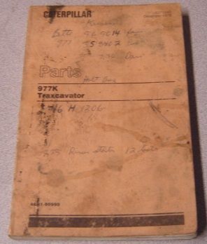 Image for Caterpillar Parts Book 977K Traxcavator, Serial Nos. 46H1-99999 (Form UE070040)