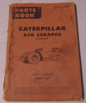 Image for Caterpillar 630 Scraper Hydraulic Parts Book, Serial Nos. 10G1-Up (Form UE034550)