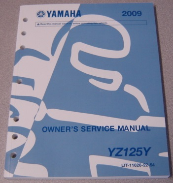 Image for 2009 Yamaha Motorcycle YZ125Y Owner's Service Manual (LIT-11626-22-54)