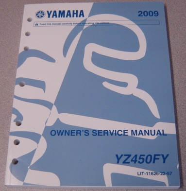 Image for 2009 Yamaha YZ450FY Owner's Service Manual (LIT-11626-22-57)