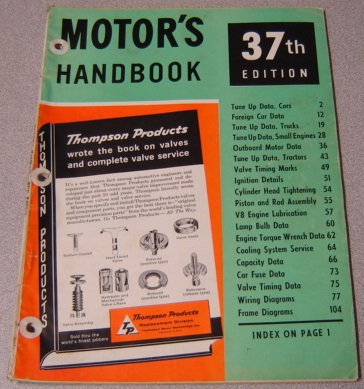 Image for Motor's Handbook, 37th Edition