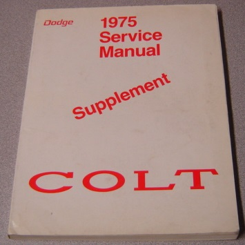 Image for 1975 Dodge Colt Service Manual Supplement (#81-270-5121)
