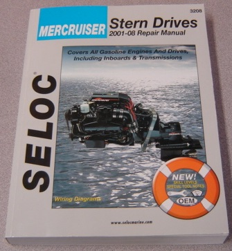 Image for Seloc Mercruiser Stern Drives 2001-2008 Repair Manual: Alpha, Bravo And Inboard Transmissions (#3208)