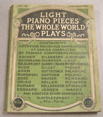 Image for Light Piano Pieces The Whole World Plays (Whole World Series)