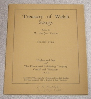 Image for Treasury Of Welsh Songs, Second Part