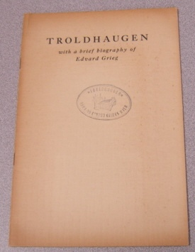 Image for Troldhaugen: With A Brief Biography Of Edvard Grieg