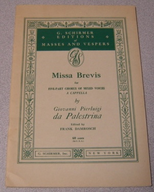 Image for Missa Brevis For Five-part Chorus Of Mixed Voices, A Cappella