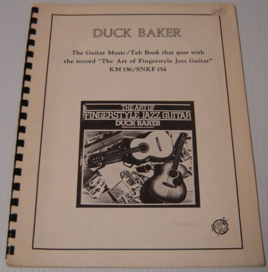 "Image for Duck Baker, the Guitar Music / Tab Book That Goes with the Record ""The Art of Fingerstyle Jazz Guitar"" KM 156/SNKF 154"