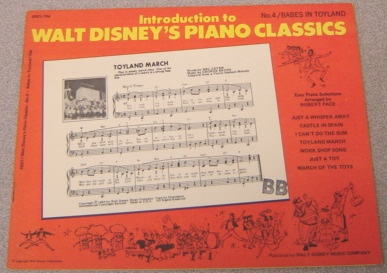 Image for Introduction to Walt Disney's Piano Classics, No. 4: Babes in Toyland