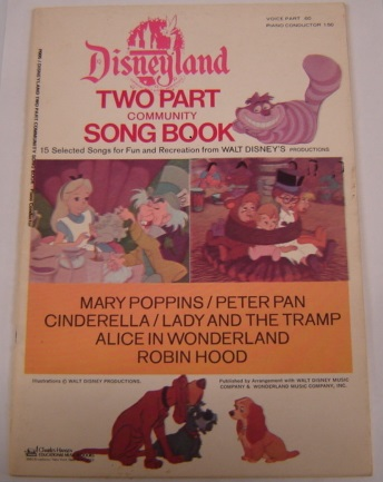 Image for Disneyland Two Part Community Song Book - Piano Conductor - 15 Selected Songs for Fun and Recreation (P005)