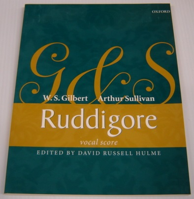 Image for Ruddigore Or The Witch's Curse: Vocal Score