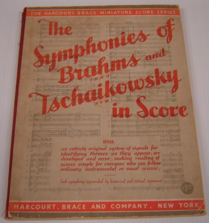 Image for The Symphonies Of Brahms And Tschaikowsky In Score (The Harcourt, Brace Miniature Score Series)