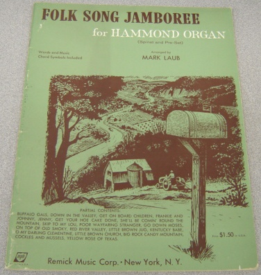 Image for Folk Song Jamboree for Hammond Organ (Spinet and Pre-Set)