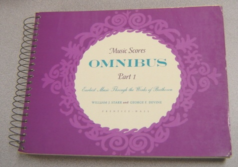 Image for Music Scores Omnibus Part 1 - Earliest Music Through The Works Of Beethoven