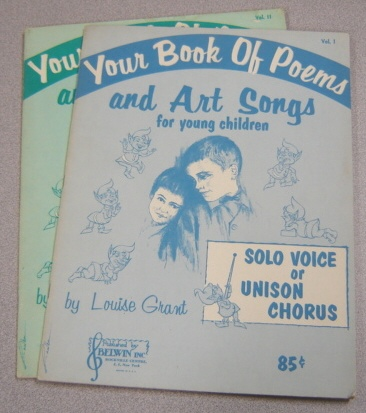 Image for Your Book Of Poems And Art Songs For Young Children, Volumes 1 & 2, 2 Volume Set
