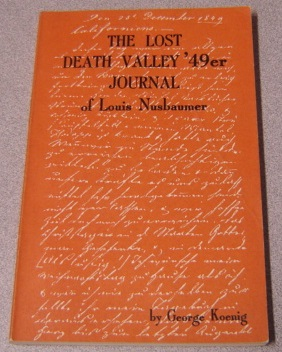 Image for The Lost Death Valley '49er Journal Of Louis Nusbaumer