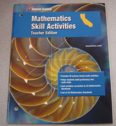 Image for Glencoe Science Mathematics Skill Activities, California, Teacher Edition