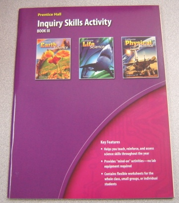 Image for Prentice Hall Inquiry Skills Activity, Book III, California Science Explorer