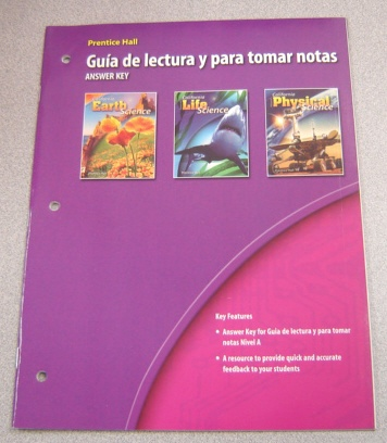Image for Prentice Hall Guia De Lectura Y Para Tomar Notas, Answer Key, California Science Explorer