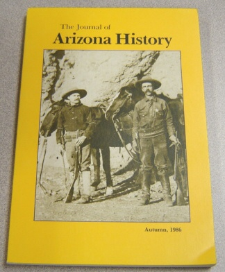Image for Journal Of Arizona History, Autumn 1986, Vol. 27 #3